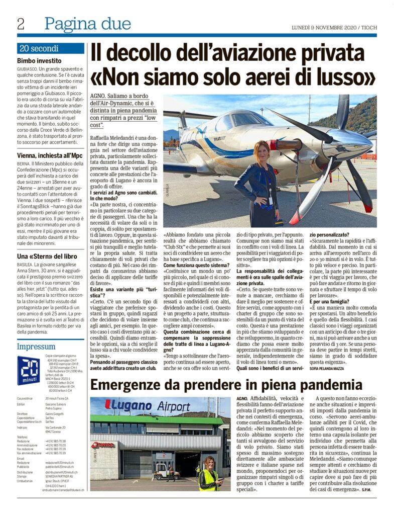 Raffaella Meledandri Jet Privato Elicottero Lusso Ticino Private Jet Helicopter