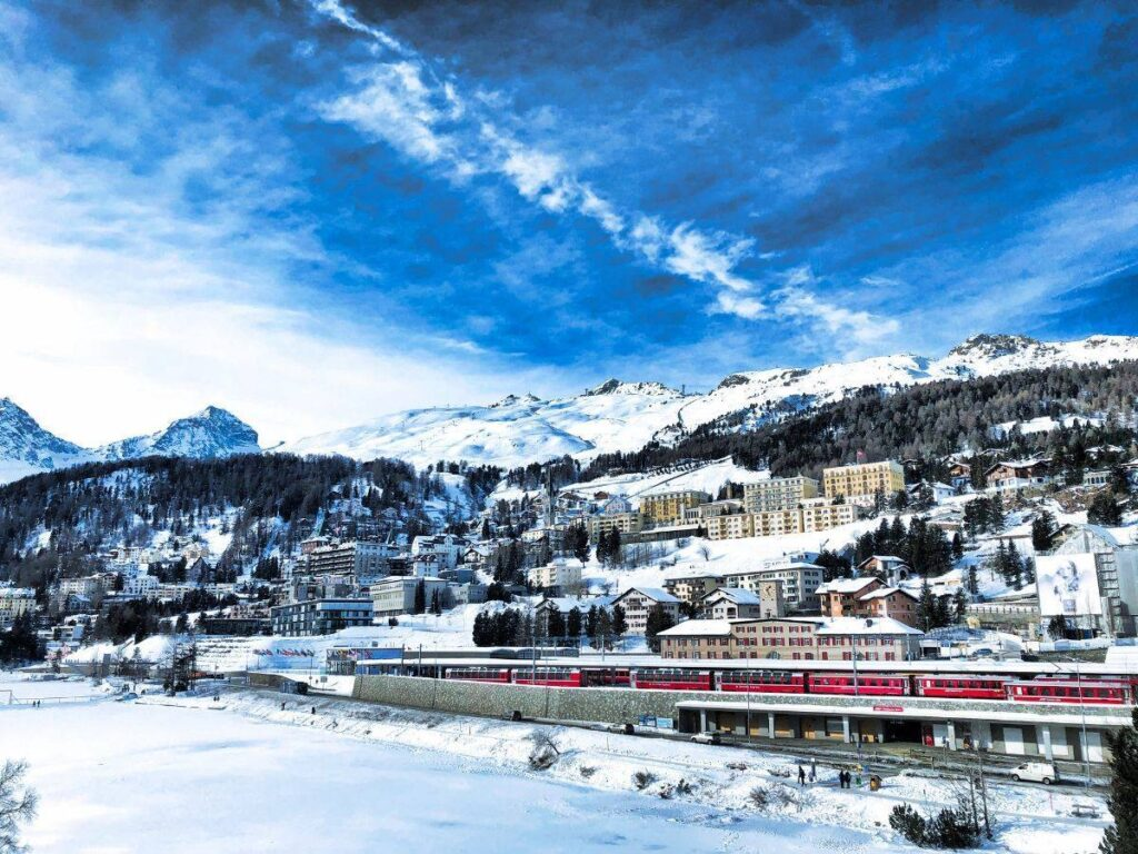 St.Moritz engadine slopes