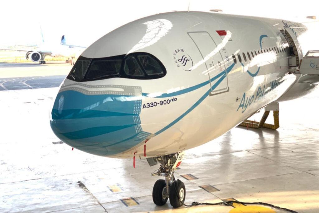 mascherina aereo evidenza